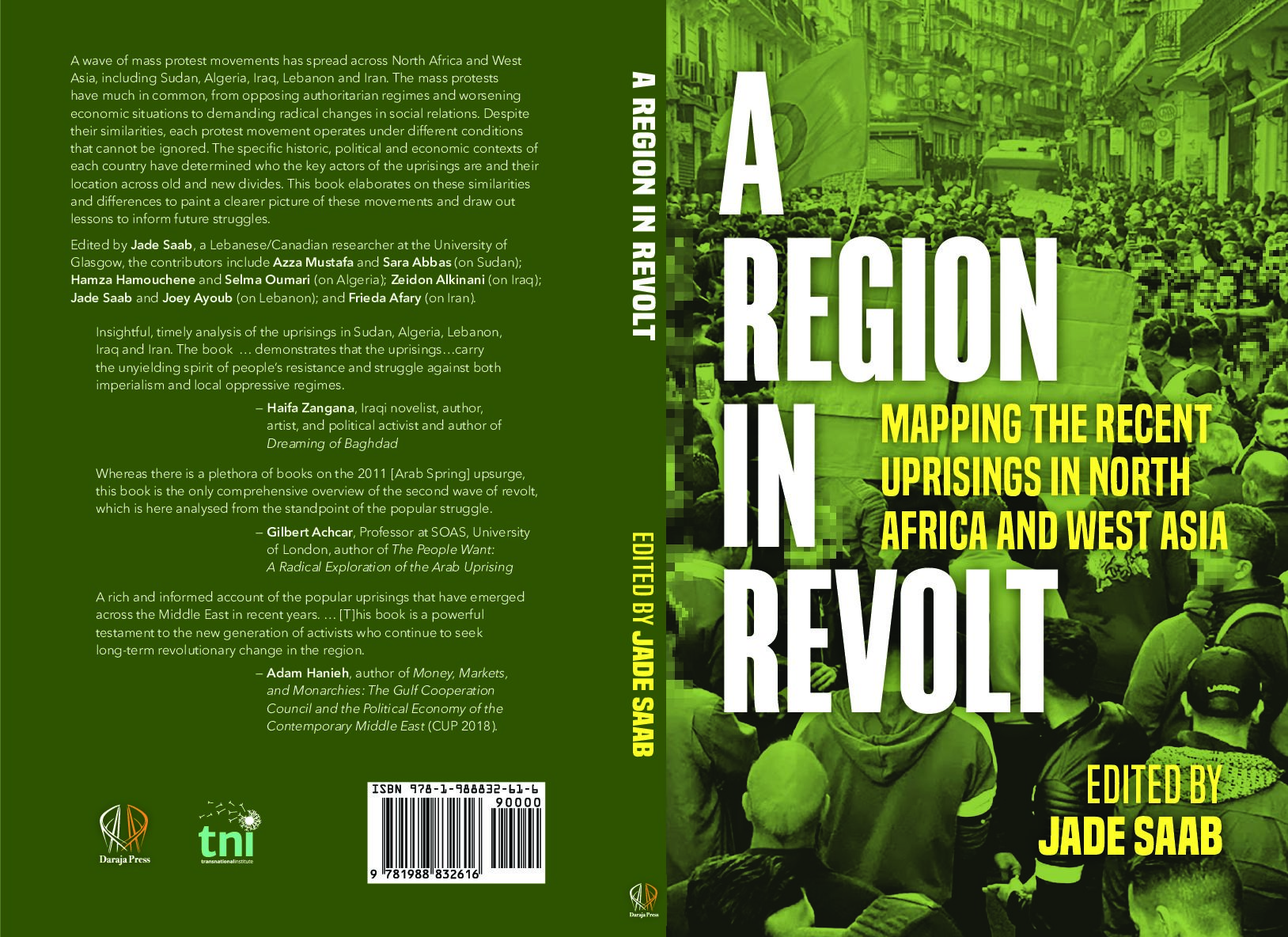 Book Launch:   A Region in Revolt:  Mapping the Uprisings in North Africa & West Asia, 2019-2020, Published by Daraja Press