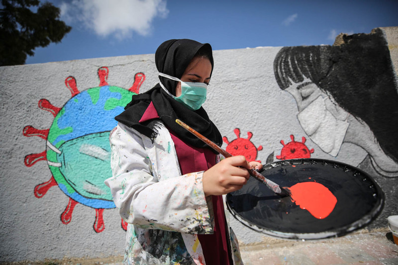 Protest Removal of Palestine From Coronavirus Map