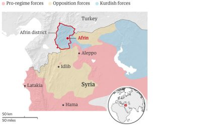 Solidarity with Afrin, al-Ghouta, Idlib Against All Military Attacks